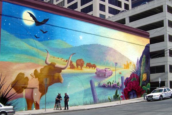 Austin wall mural for Austin mural wall