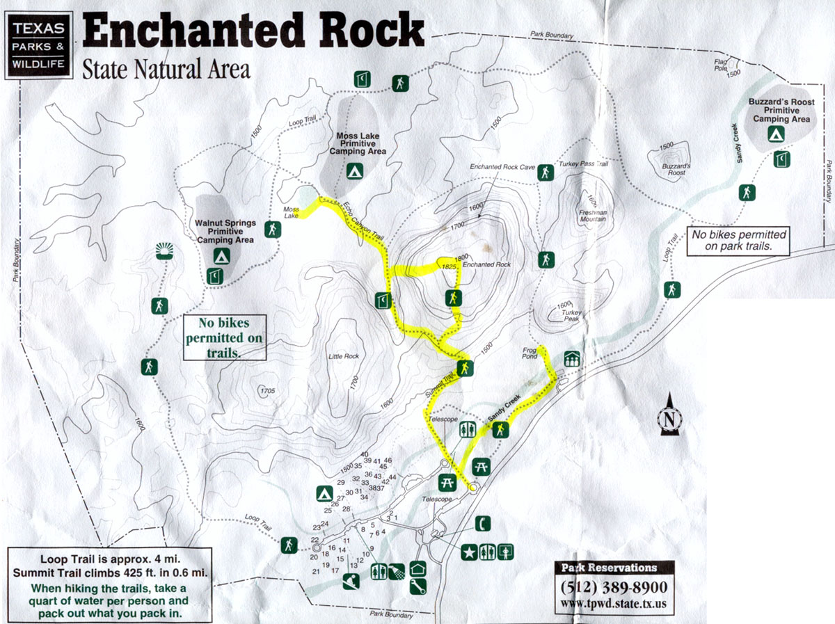 Enchanted Rock Map